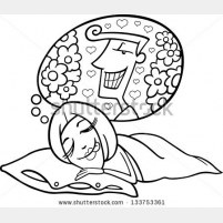 601b-vector-black-and-white-cartoon-vector-illustration-of-cute-funny-woman-in-love-dreaming-about-a-man-133753361